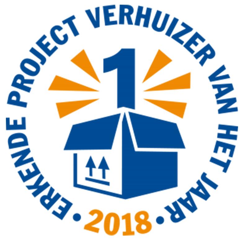 Erkende projectverhuizer van het jaar 2018